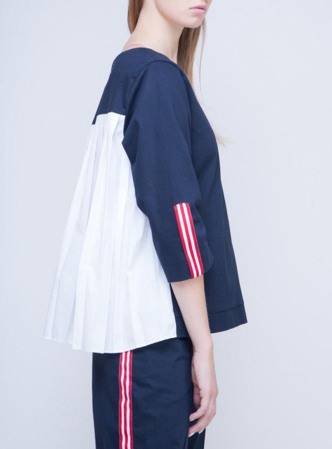 Блуза с плиссировкой на спине INS_FW17_1802_outlet, фото 1 - в интернет магазине KAPSULA