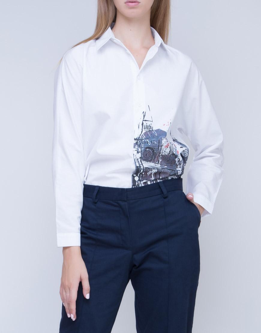 Купить Рубашка oversize с принтом