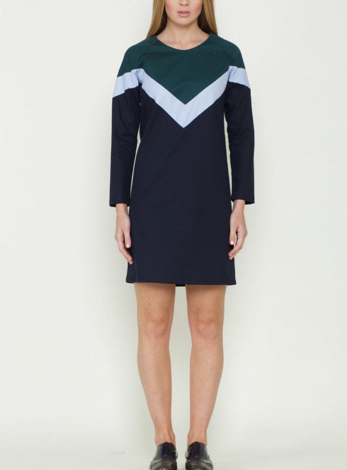 Платье с геометрическими вставками INS_FW17/05/2_outlet, фото 1 - в интеренет магазине KAPSULA