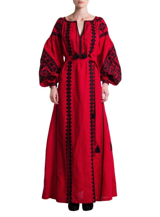 Платье вышиванка «Берегиня» FOBERI_01067, фото 1 - в интеренет магазине KAPSULA