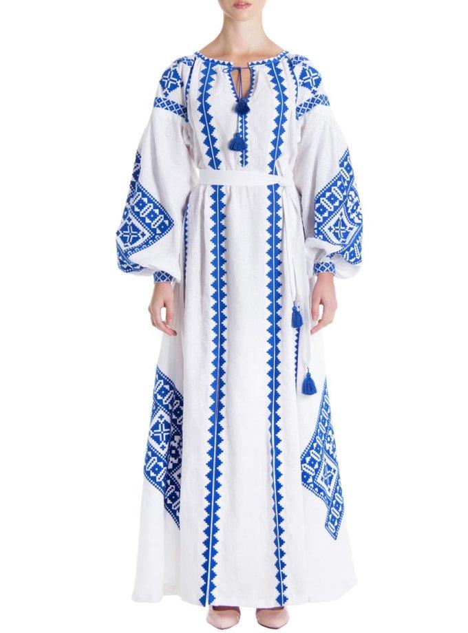 Платье-вышиванка «Снежное сияние» FOBERI_01098, фото 1 - в интеренет магазине KAPSULA