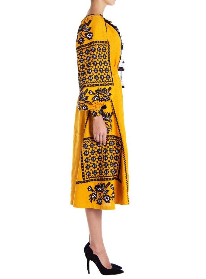 Платье-вышиванка «Золото» FOBERI_01105, фото 1 - в интеренет магазине KAPSULA