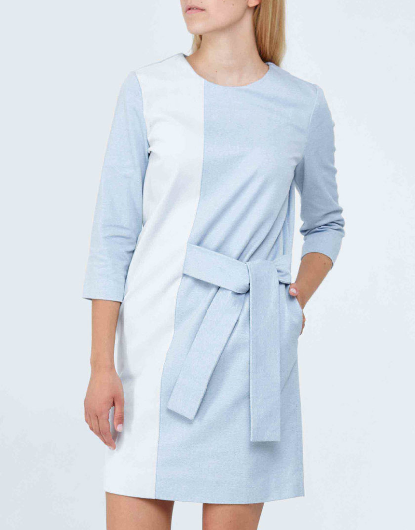 Платье из мягкого плотного хлопка PPM_PM-23, фото 1 - в интернет магазине KAPSULA