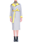 Пальто короткое желтое CYAN_CT#F01, фото 5 - в интеренет магазине KAPSULA