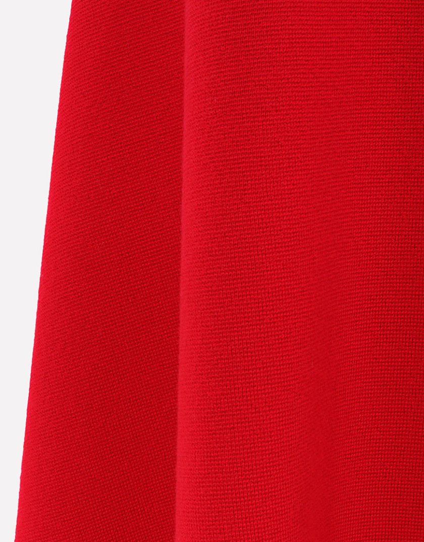 Юбка миди из шерсти JND_16-010508red, фото 1 - в интернет магазине KAPSULA