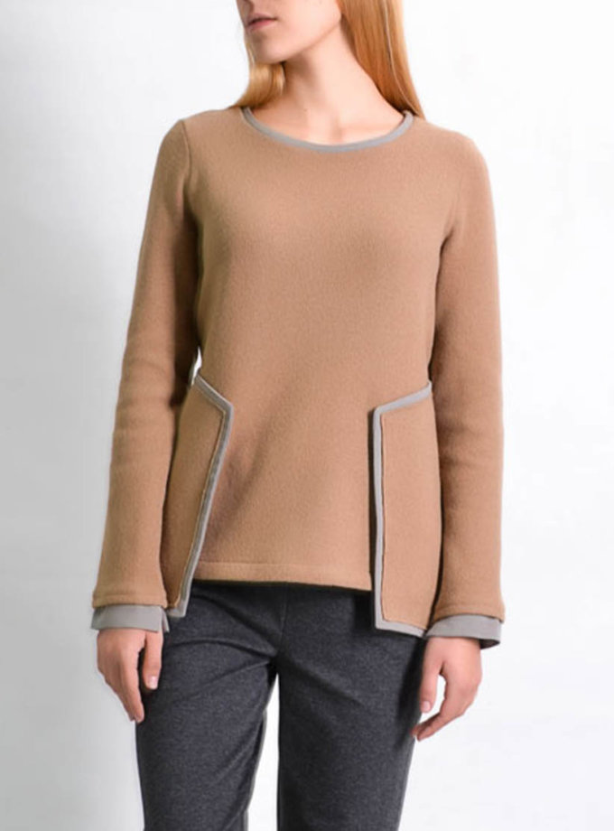 Шерcтяной  свитер PPM_PM-20, фото 1 - в интеренет магазине KAPSULA