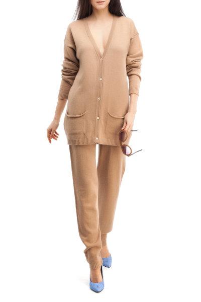 Песочный трикотажный костюм HMCRG_Suit_sprt_3, фото 1 - в интеренет магазине KAPSULA