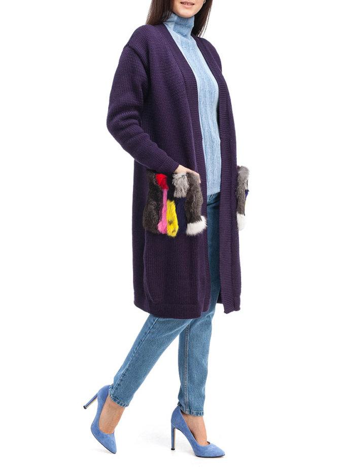 Кардиган из шерсти с мехом HMCRG_Crdg_3_outlet, фото 1 - в интеренет магазине KAPSULA