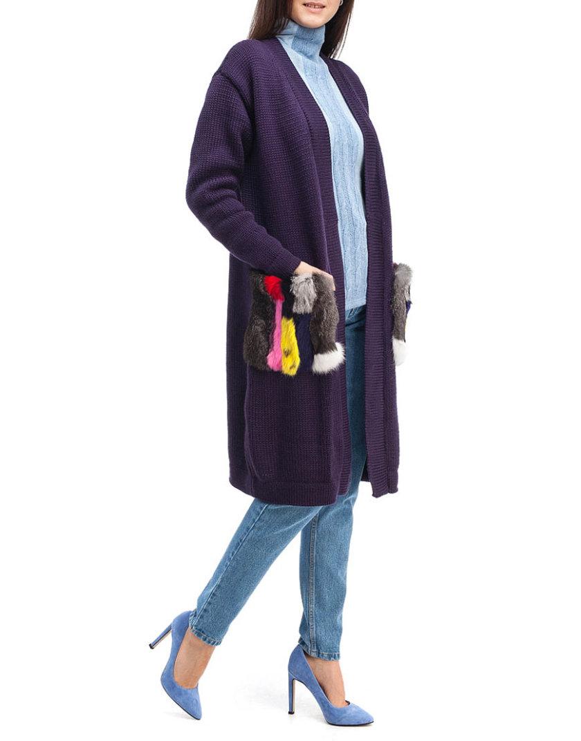 Кардиган из шерсти с мехом HMCRG_Crdg_3_outlet, фото 1 - в интернет магазине KAPSULA