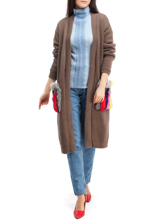 Кардиган из шерсти с мехом HMCRG_Crdg_4_outlet, фото 1 - в интеренет магазине KAPSULA