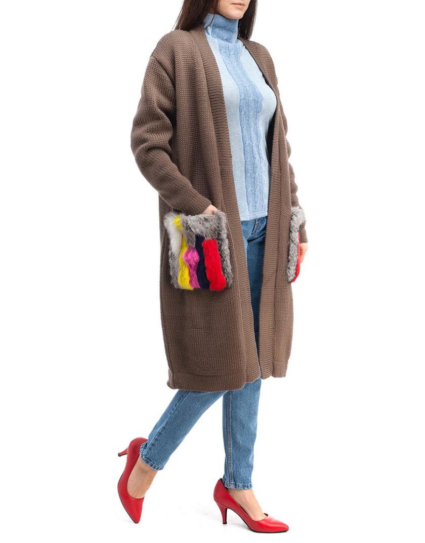 Кардиган из шерсти с мехом HMCRG_Crdg_4_outlet, фото 1 - в интернет магазине KAPSULA