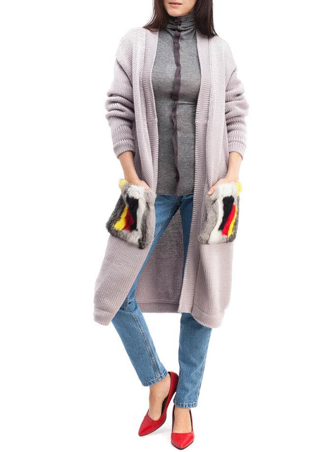 Кардиган из шерсти с мехом HMCRG_Crdg_7_outlet, фото 1 - в интеренет магазине KAPSULA
