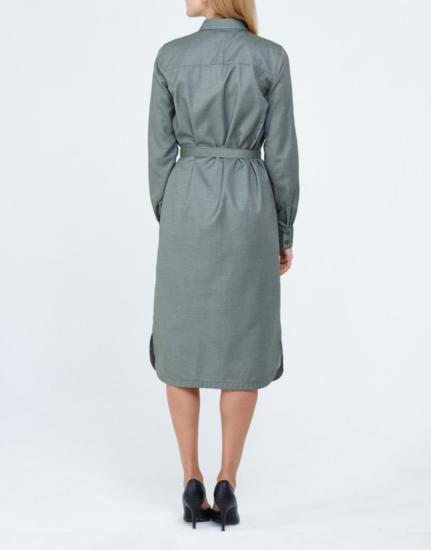 Платье-рубашка PPM_PM-32, фото 1 - в интернет магазине KAPSULA