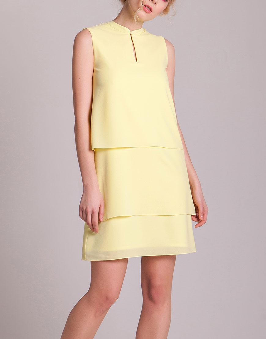 Трехслойное шифоновое платье