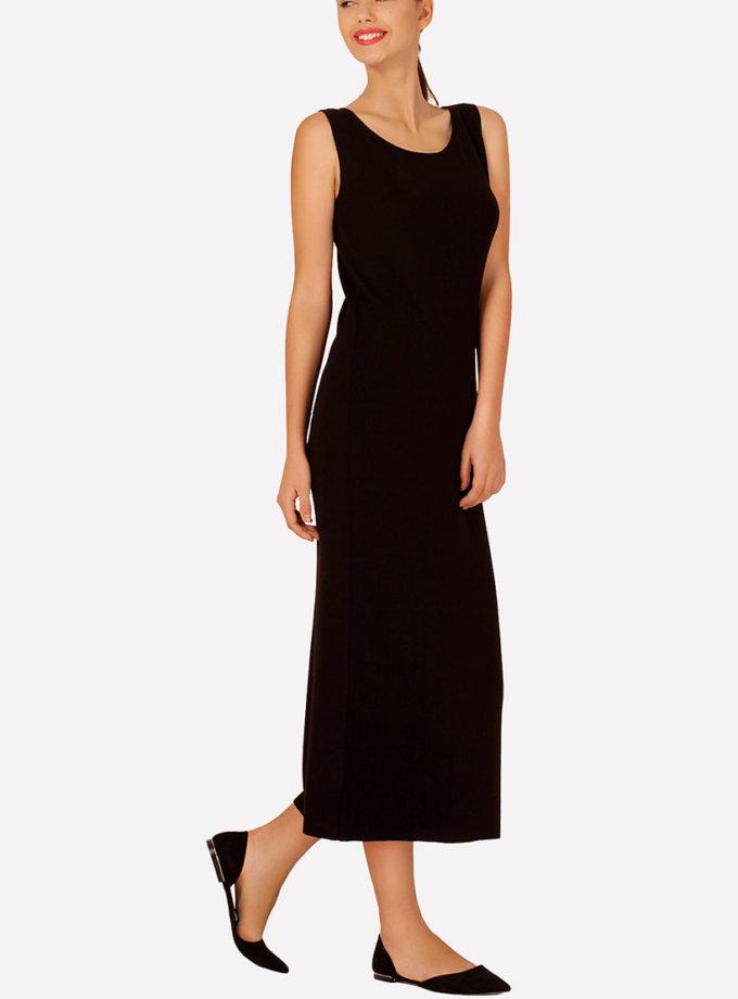 Бесшовное вязаное платье полуприлегающего силуэта JND_16-040611_1, фото 1 - в интеренет магазине KAPSULA