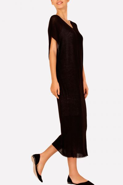 Бесшовное вязаное платье макси JND_16-040610_1, фото 4 - в интеренет магазине KAPSULA