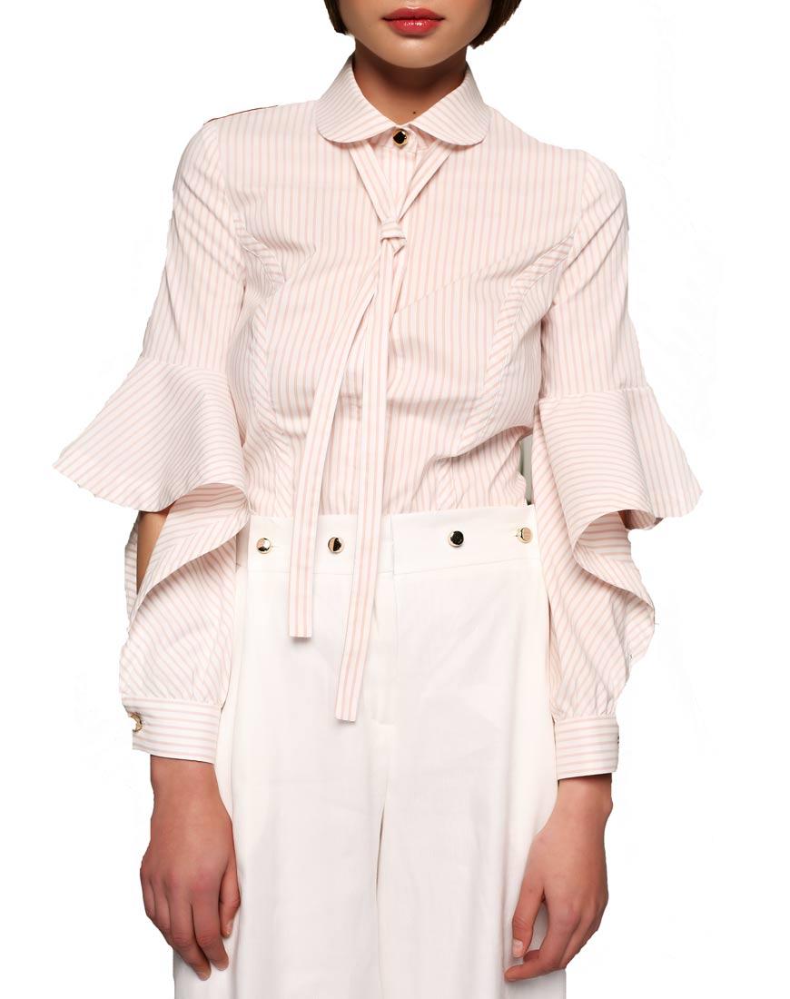 Купить Рубашка с рукавами-воланами