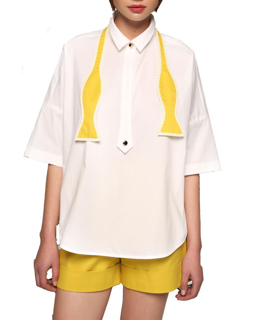 Объемная рубашка с бабочкой