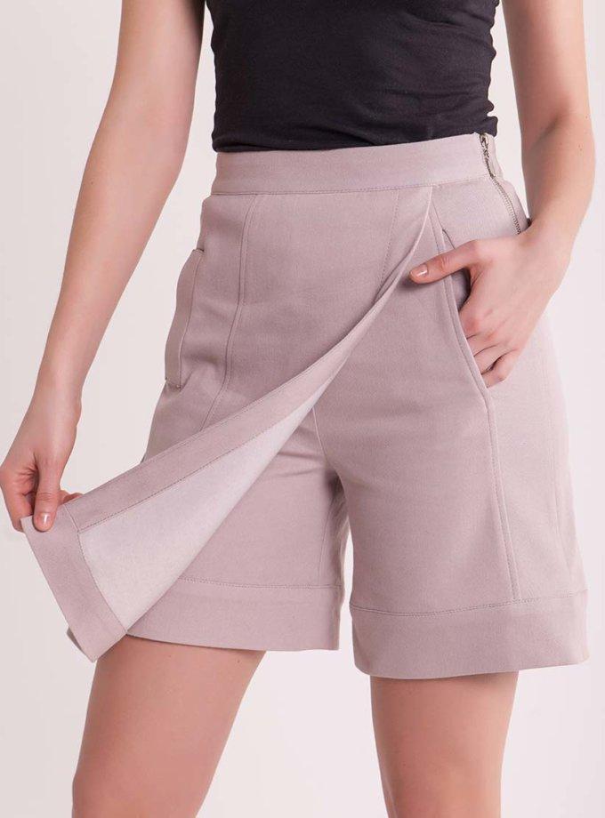 Юбка-шорты из стрейч денима CYAN_SHT_H01, фото 1 - в интеренет магазине KAPSULA