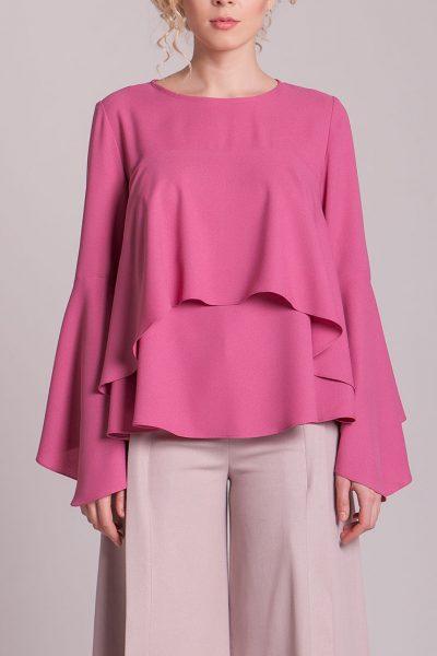 Блуза с воланами CYAN_TP_H01, фото 1 - в интеренет магазине KAPSULA