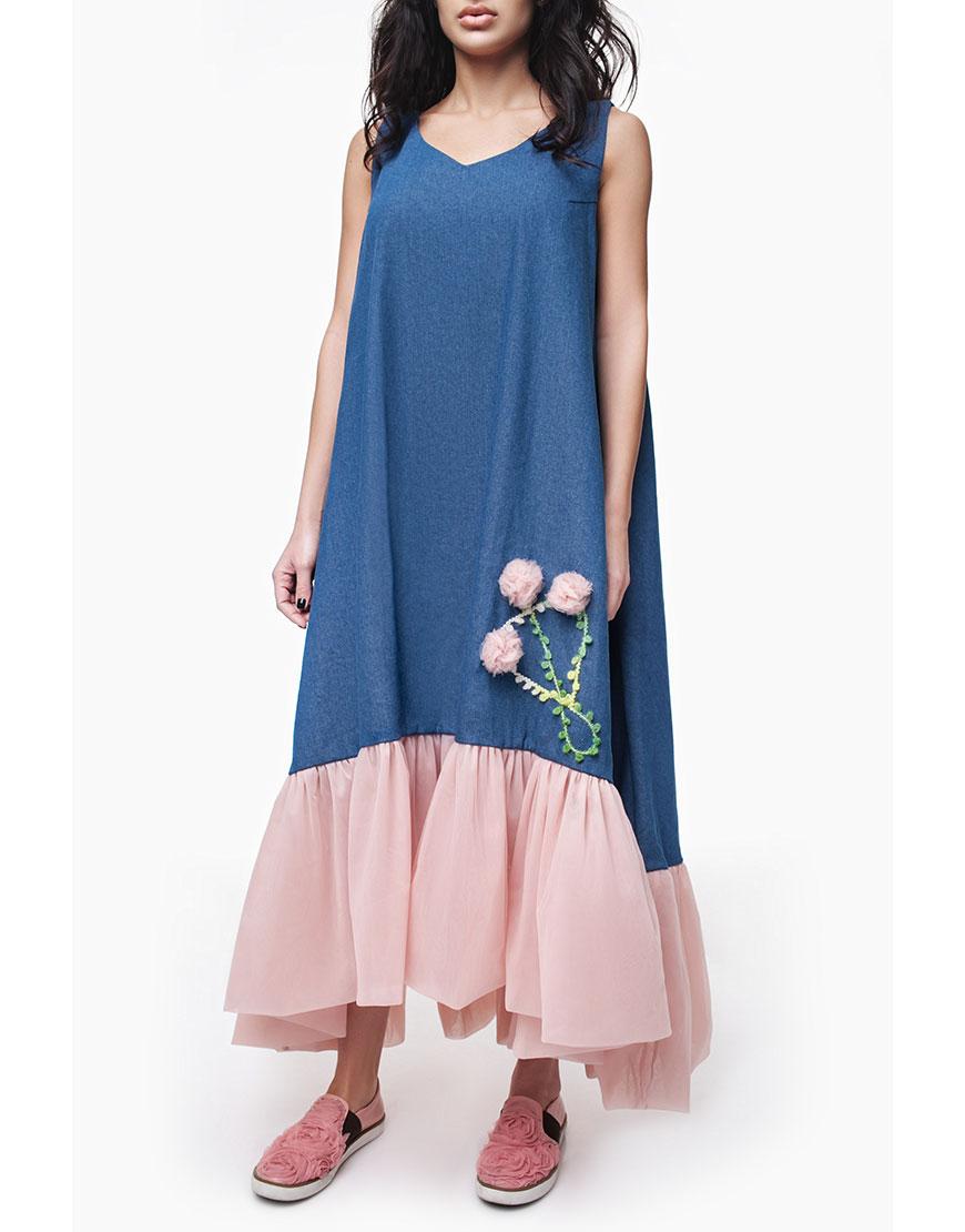 d3e50368528e70d Джинсовое платье c фатином: купить в Киеве | интернет-магазин KAPSULA