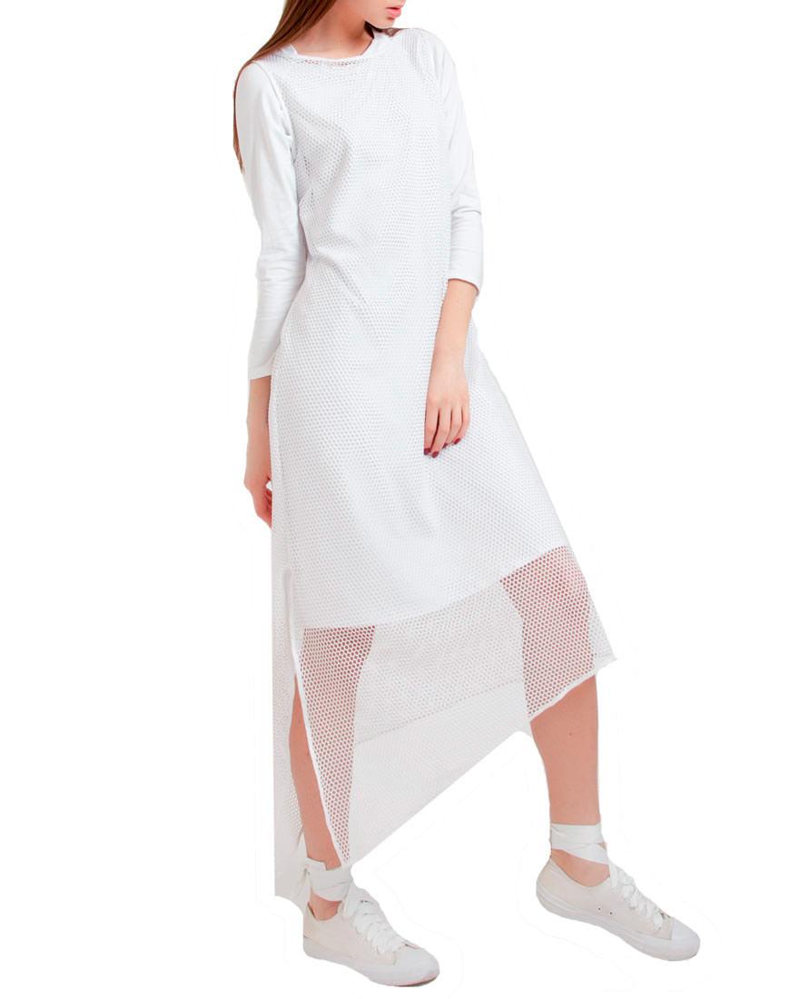 Купить Трикотажное платье с сеткой