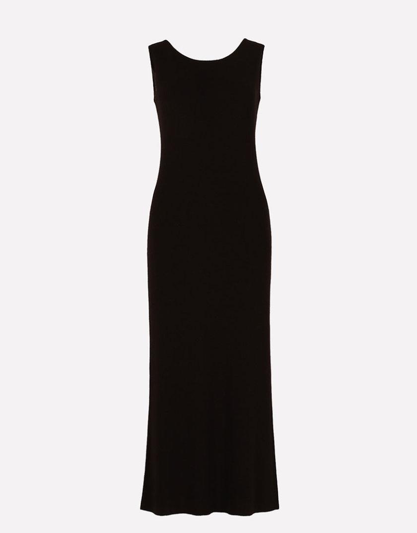 Бесшовное вязаное платье полуприлегающего силуэта JND_16-040611_1, фото 1 - в интернет магазине KAPSULA
