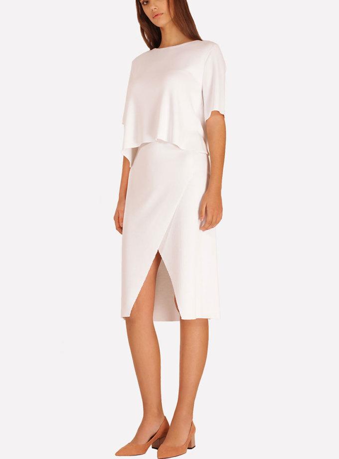 Трикотажная юбка с разрезом JND_16-040504_2, фото 1 - в интеренет магазине KAPSULA