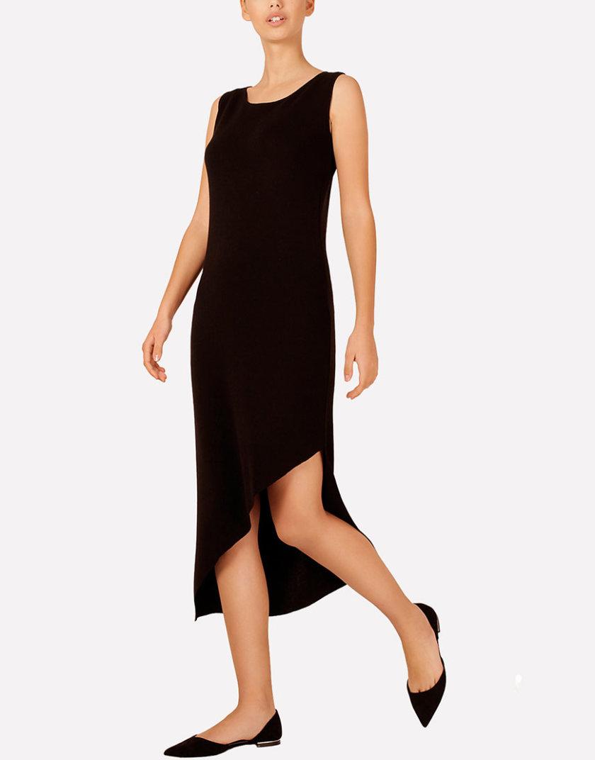 Вязаное платье с асимметричным подолом JND_16-040608_black, фото 1 - в интеренет магазине KAPSULA