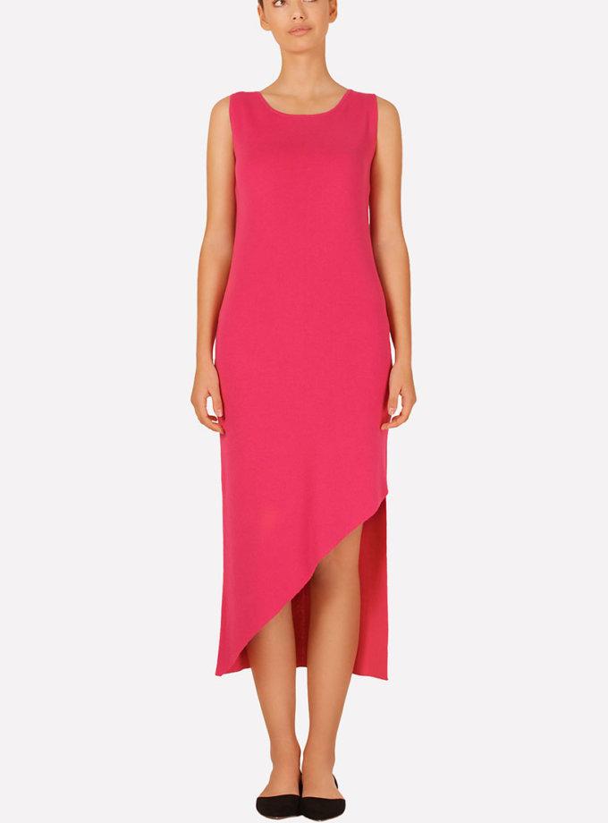Вязаное платье с асимметричным подолом JND_16-040608_red, фото 1 - в интернет магазине KAPSULA