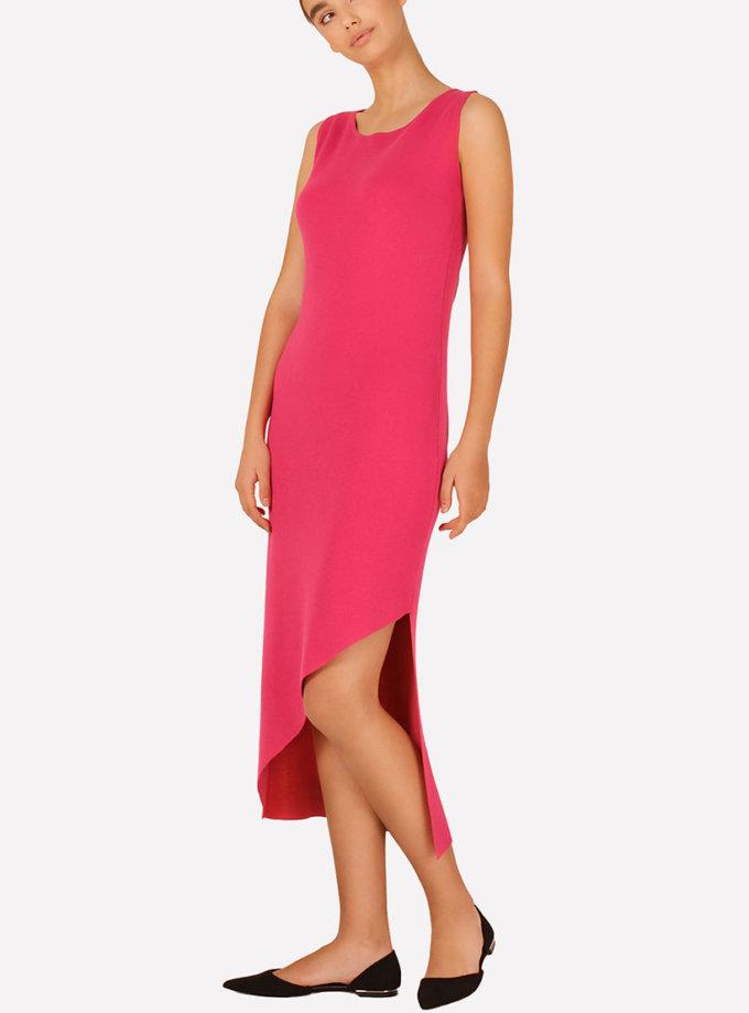 Вязаное платье с асимметричным подолом JND_16-040608_red, фото 1 - в интеренет магазине KAPSULA