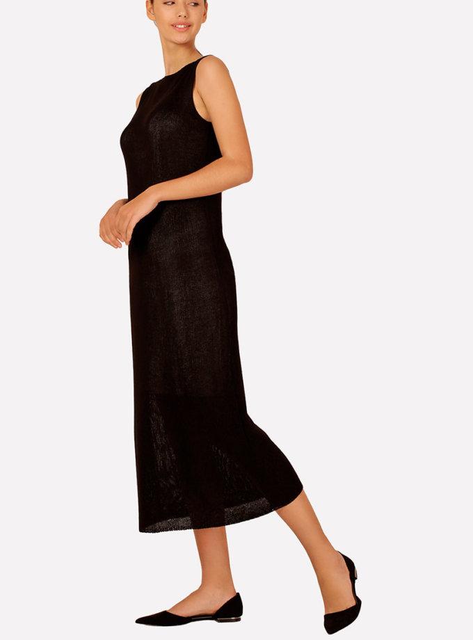 Вязаное платье макси прямого силуэта JND_16-040609_1, фото 1 - в интернет магазине KAPSULA