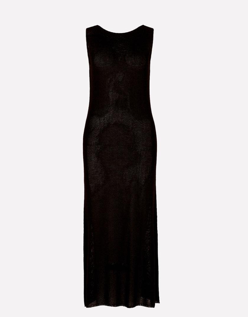 Вязаное платье макси прямого силуэта JND_16-040609_1, фото 1 - в интеренет магазине KAPSULA
