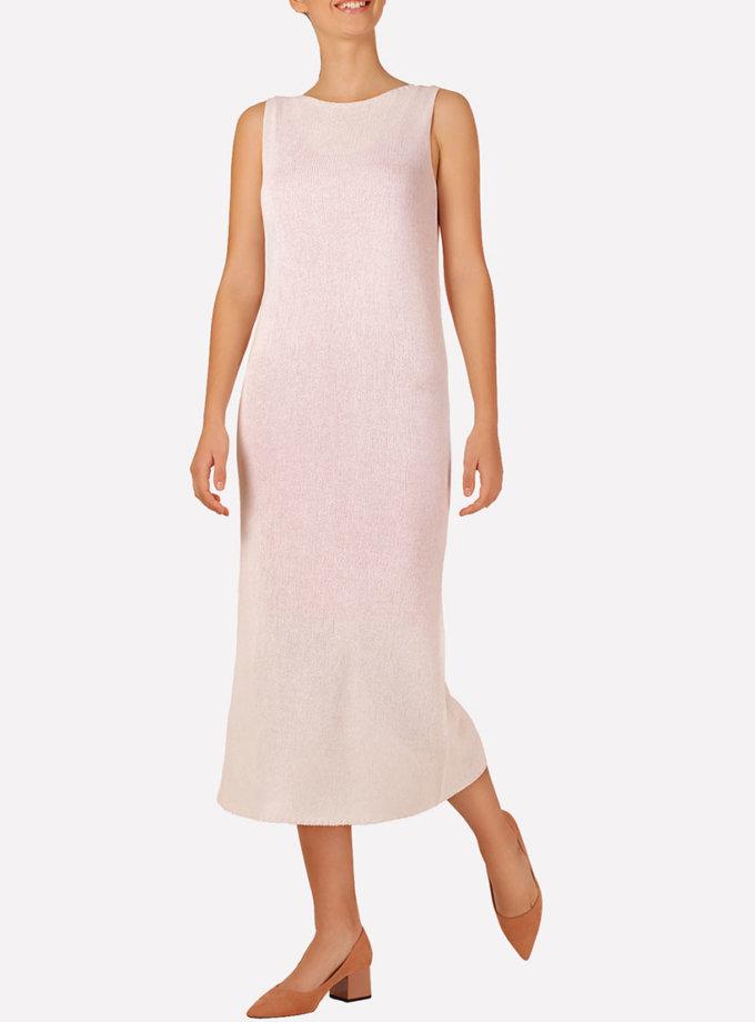 Вязаное платье макси прямого силуэта JND_16-040609_2, фото 1 - в интеренет магазине KAPSULA