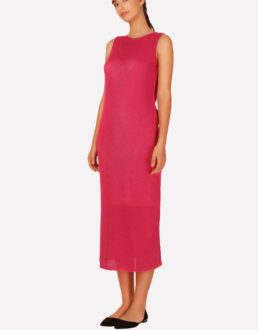 Вязаное платье макси прямого силуэта JND_16-040609_3, фото 1 - в интернет магазине KAPSULA