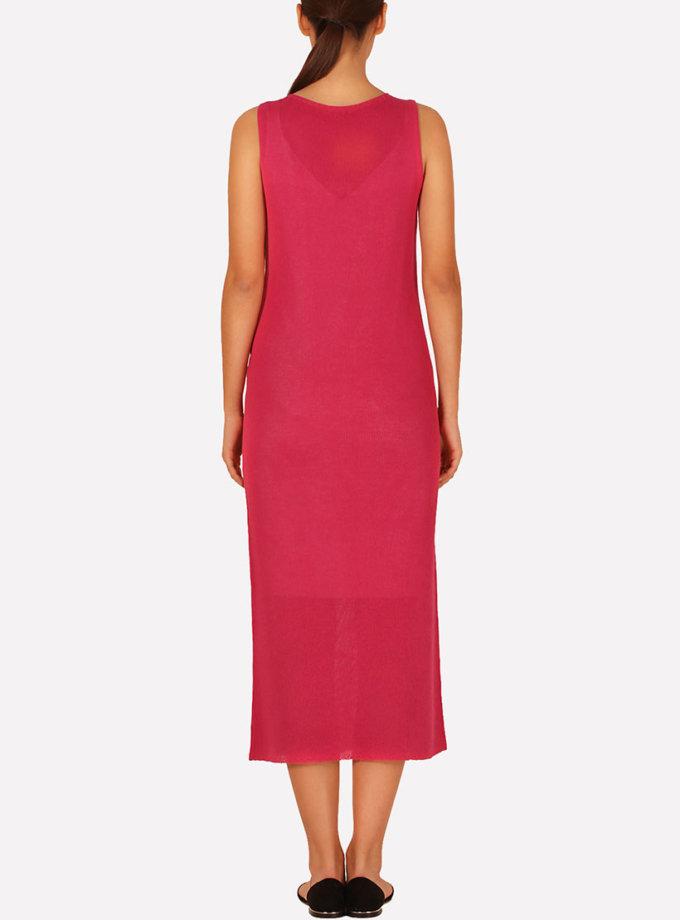 Вязаное платье макси прямого силуэта JND_16-040609_3, фото 1 - в интеренет магазине KAPSULA