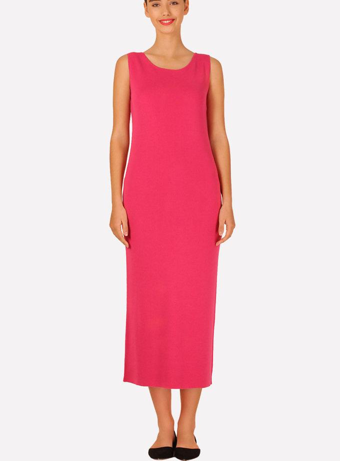 Бесшовное вязаное платье полуприлегающего силуэта JND_16-040611_3, фото 1 - в интеренет магазине KAPSULA