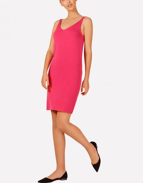 Базовое вязаное платье прилегающего силуэта JND_16-040612_4, фото 5 - в интеренет магазине KAPSULA