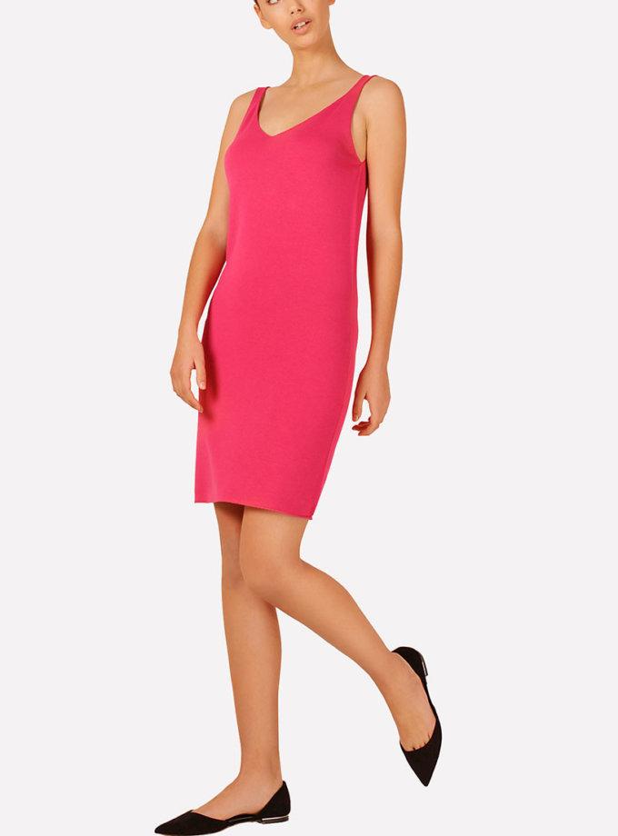 Базовое вязаное платье прилегающего силуэта JND_16-040612_4, фото 1 - в интеренет магазине KAPSULA