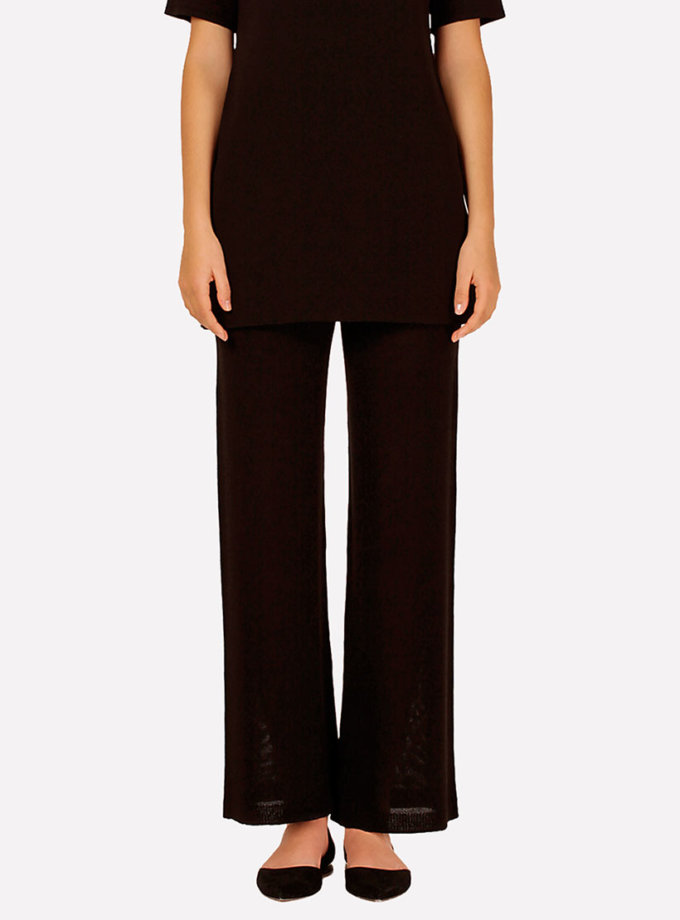 Бесшовные вязаные брюки прямого силуэта JND_16-042101_1, фото 1 - в интеренет магазине KAPSULA