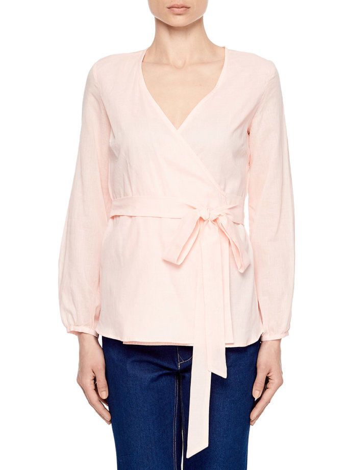 Блуза на запахе под пояс AY_1876, фото 1 - в интеренет магазине KAPSULA