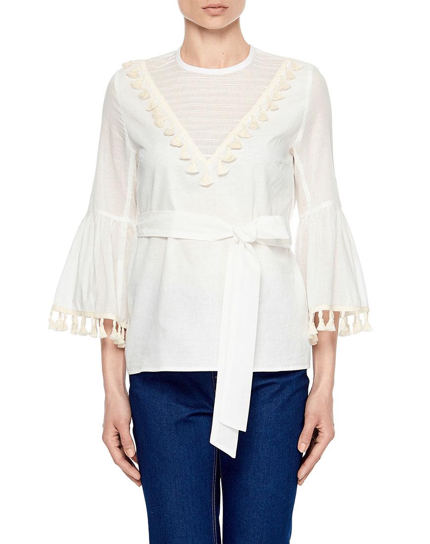 Блуза с кисточками
