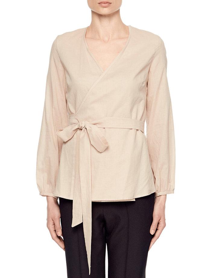 Блуза на запахе под пояс AY_1890, фото 1 - в интеренет магазине KAPSULA