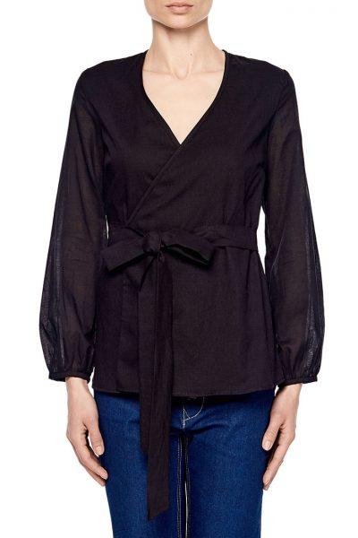 Блуза на запахе под пояс AY_1903, фото 2 - в интеренет магазине KAPSULA
