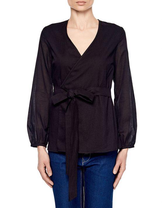 Блуза на запахе под пояс AY_1903, фото 4 - в интеренет магазине KAPSULA