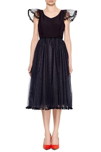 Платье с пышной юбкой из фатина AY_1968_outlet, фото 5 - в интеренет магазине KAPSULA