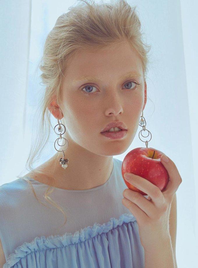 Серьги Francesca с агатом, кварцем и жемчугом SMKSH_francesca, фото 1 - в интернет магазине KAPSULA