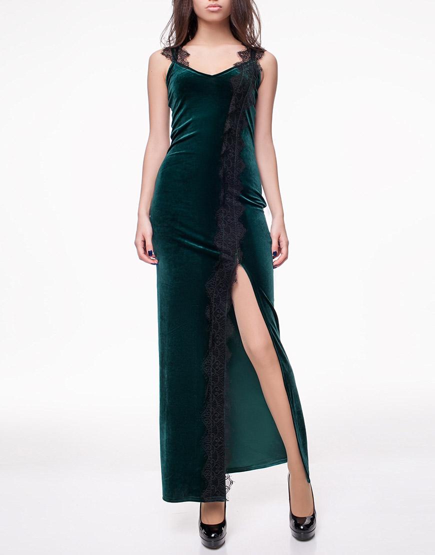 c12750034db2bae Бархатное платье с кружевом: купить в Киеве   интернет-магазин KAPSULA