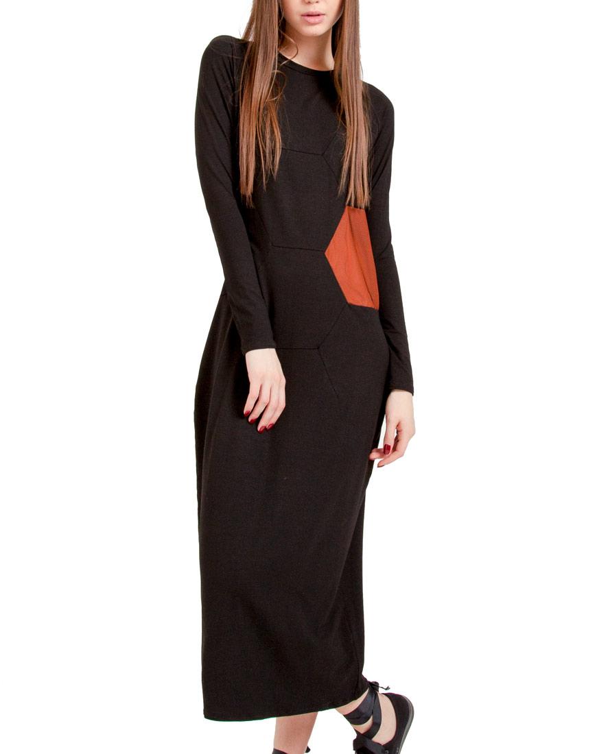 Купить Легкое трикотажное платье с сеткой