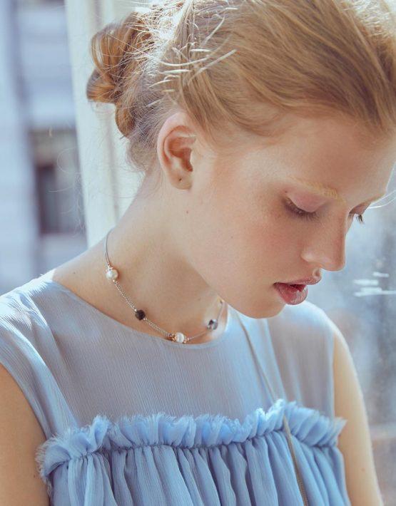 Колье Nicole с кварцем и жемчугом SMKSH_nicole, фото 6 - в интеренет магазине KAPSULA